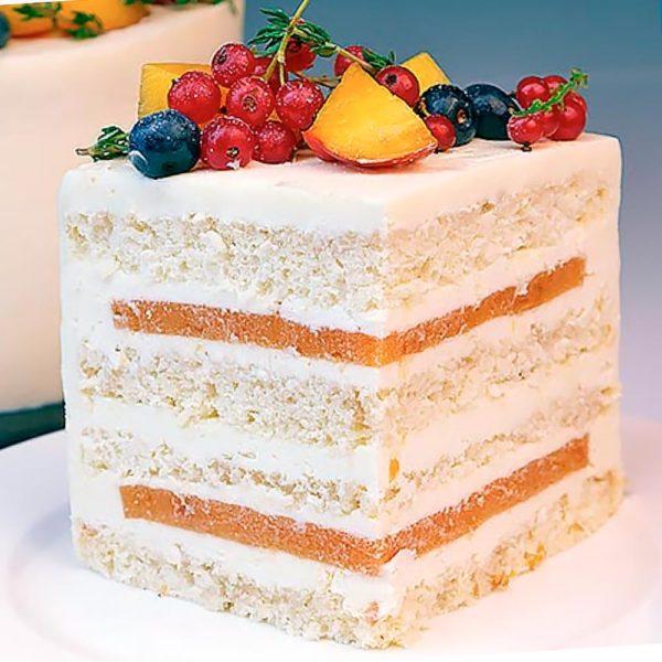 Торт «Персик-Тимьян»