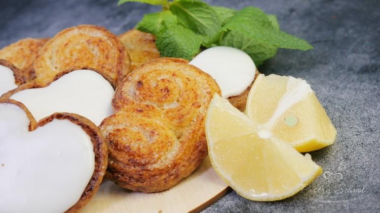 Берлинское печенье с лимонной глазурью