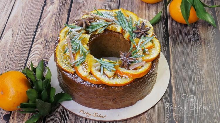 Апельсиновый кекс с пряностями