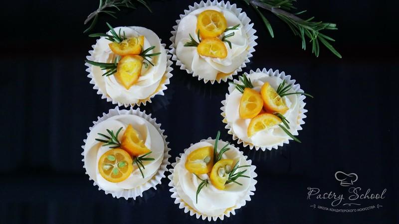 Корзиночки с апельсиновым кремом