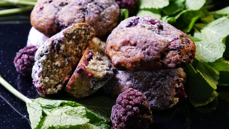 Мятное печенье с ежевикой
